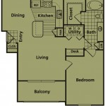B - ONE BEDROOM  ONE BATH   780