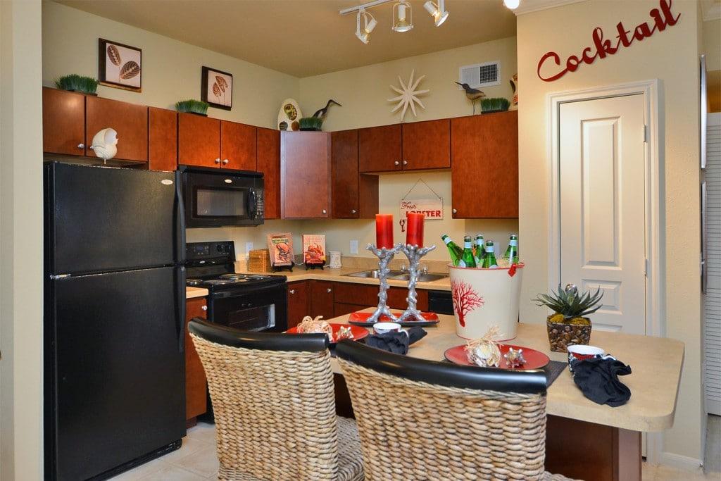 apartment Conroe TX kitchen