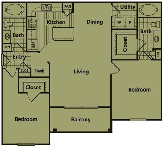 Two bedroom apartments for rent in Conroe, TX