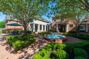 One Bedroom Apartments for Rent in Conroe, TX - Courtyard with Fountain