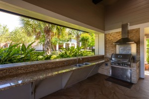 One Bedroom Apartments for Rent in Conroe, TX - Covered Grilling Area with Sink