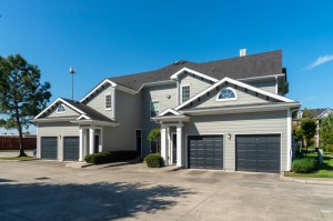 One Bedroom Apartments for Rent in Conroe, TX - Exterior Building with Attached Garages