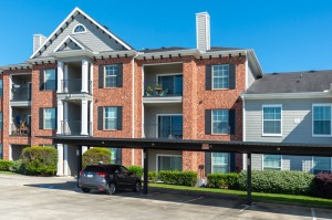 One Bedroom Apartments for Rent in Conroe, TX - Exterior Building with Covered Parking (2)
