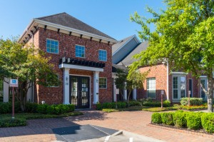 One Bedroom Apartments for Rent in Conroe, TX - Exterior Leasing Office & Clubhouse