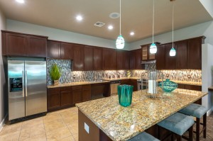 Two Bedroom Apartments for Rent in Conroe, TX - Clubhouse  Kitchen with Breakfast Bar