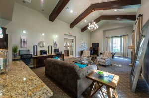 Two Bedroom Apartments for Rent in Conroe, TX - Clubhouse  Lounge Area