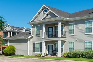 One Bedroom Apartments for Rent in Conroe, TX - Exterior Building with Attached Garage