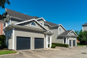 One Bedroom Apartments for Rent in Conroe, TX - Exterior Building with Attached Garages (2)