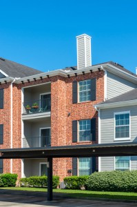 One Bedroom Apartments for Rent in Conroe, TX - Exterior Building with Covered Parking