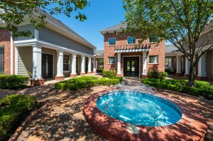 Three Bedroom Apartments for Rent in Conroe, TX -Courtyard with Fountain