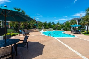 Three Bedroom Apartments for Rent in Conroe, TX -Pool & Patio Area