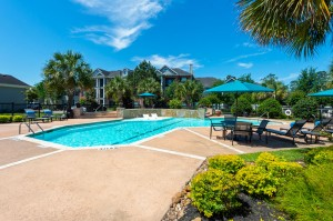 Three Bedroom Apartments for Rent in Conroe, TX -Pool & Patio Area (2)