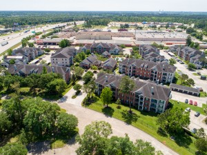 Three Bedroom Apartments for Rent in Conroe, TX - Aerial View of Community & Surrounding Area