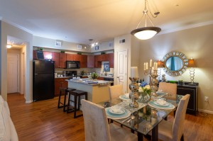 Three Bedroom Apartments for Rent in Conroe, TX - Model Dining Room & Kitchen