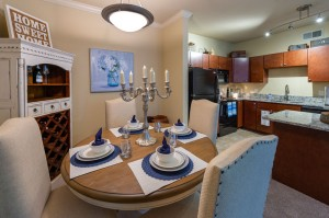 Two Bedroom Apartments for Rent in Conroe, TX - Model Dining Room & Kitchen