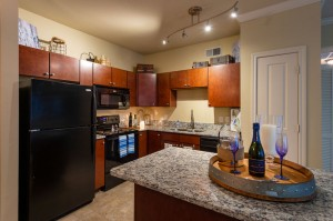 Two Bedroom Apartments for Rent in Conroe, TX - Model Kitchen with Breakfast Bar