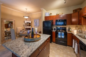 Two Bedroom Apartments for Rent in Conroe, TX - Model Kitchen with Island
