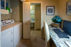Two Bedroom Apartments for Rent in Conroe, TX - Model Desk Nook & Laundry Room