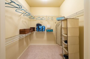 Two Bedroom Apartments for Rent in Conroe, TX - Model Walk-In Closet